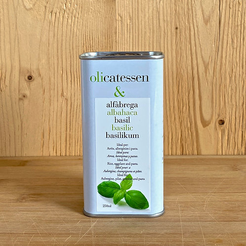 Bio-Olivenöl mit Basilikumgeschmack 250ml