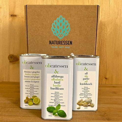 3er Packung Bio-Olivenöl mit Gewürzgeschmack