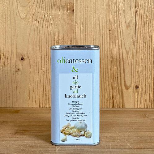 Bio-Olivenöl mit Knoblauchgeschmack 250ml