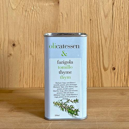 Bio-Olivenöl mit Thymiangeschmack 250ml