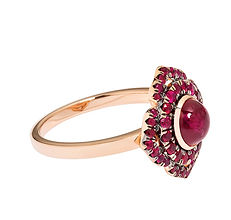 How to Heal Using Root Chakra,Powerful root chakra ring with cabochon rubies and Pave Rubies in 18k rose gold.ring is 1.5cm in diameter-onsale order now-shipping available on request-mamaprofroy +2612740438