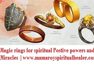 Be blessed with the power to heal and prophesy with magic rings for spiritual power.  Become a powerful healer and have the power to do miracles with magic rings for spiritual power.  Protect your family,job and business with magic rings for protection.  Spiritual forces to protect you from evil forces and bad spirits.Real powerful Mamaprofroy +27612740438