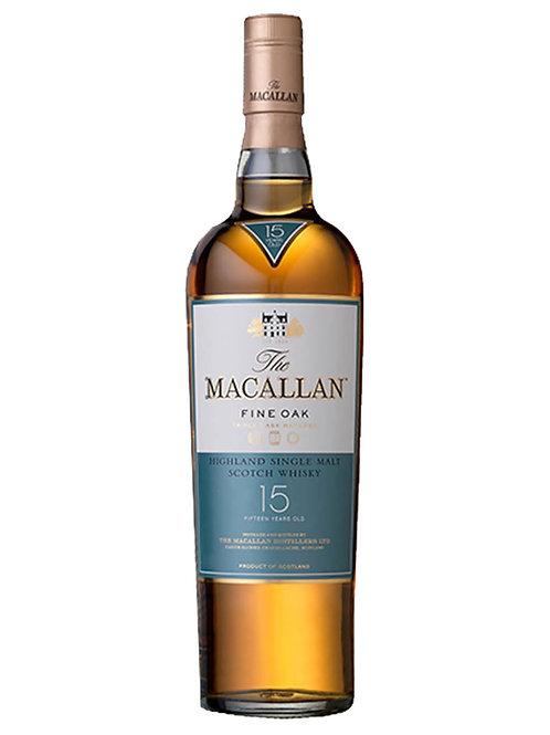 The Macallan 15 Year Old Fine Oak Single Malt Scotch Whisky 700ml