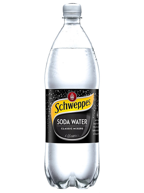 Schweppes Soda Water Bottles 1.25L