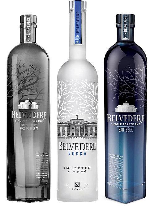 Belvedere Single Estate Rye Vodka 3 x 700ml Pack
