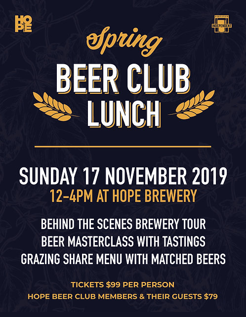 SPRING BEER CLUB LUNCH