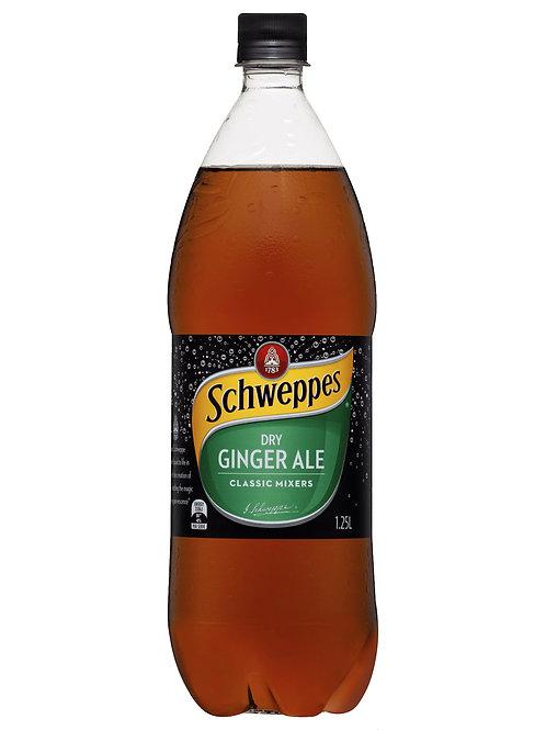 Schweppes Dry Ginger Ale Bottles 1.25L