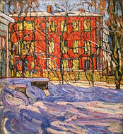 Abraham Manievich (1883-1942) Red House,