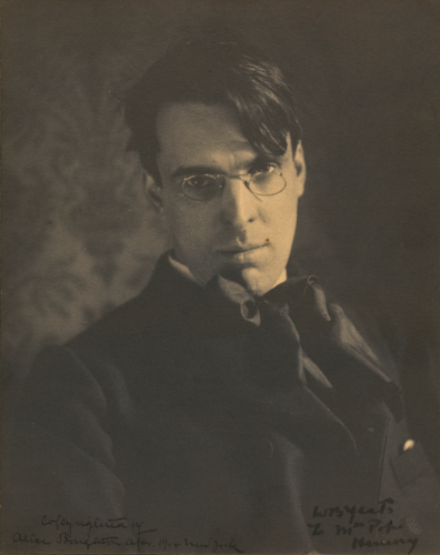 WB Yeats platinum print signed by Alice