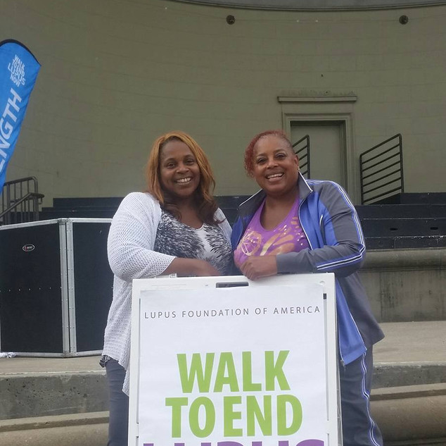 Sherry and Yolanda walking to end Lupus