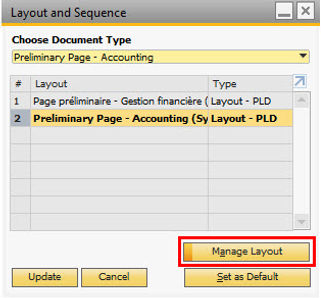 SAP Business One – Disabling Preliminary Page on Print Layout Designer