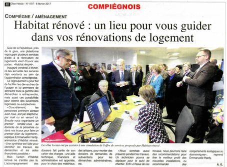 Inauguration d'Habitat Rénové dans le journal Oise Hebdo !