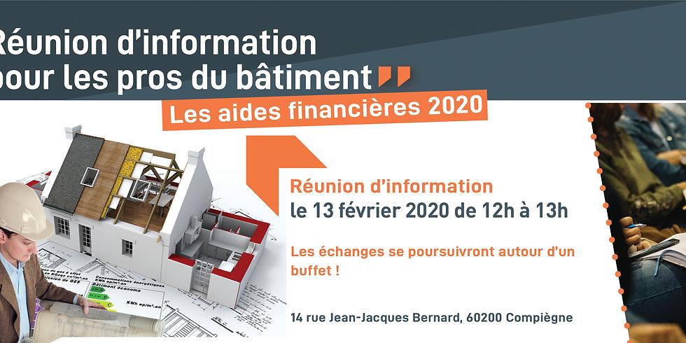 Réunion d'info des pros : quelles aides financières en 2020 pour les travaux de rénovation thermique du particulier? (1)