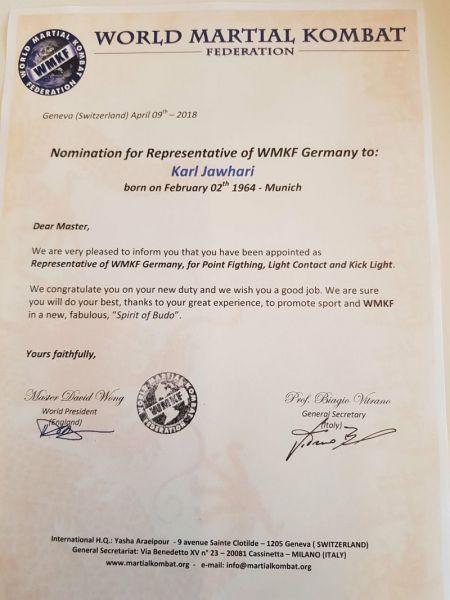 Nomination zum technischen Direktor