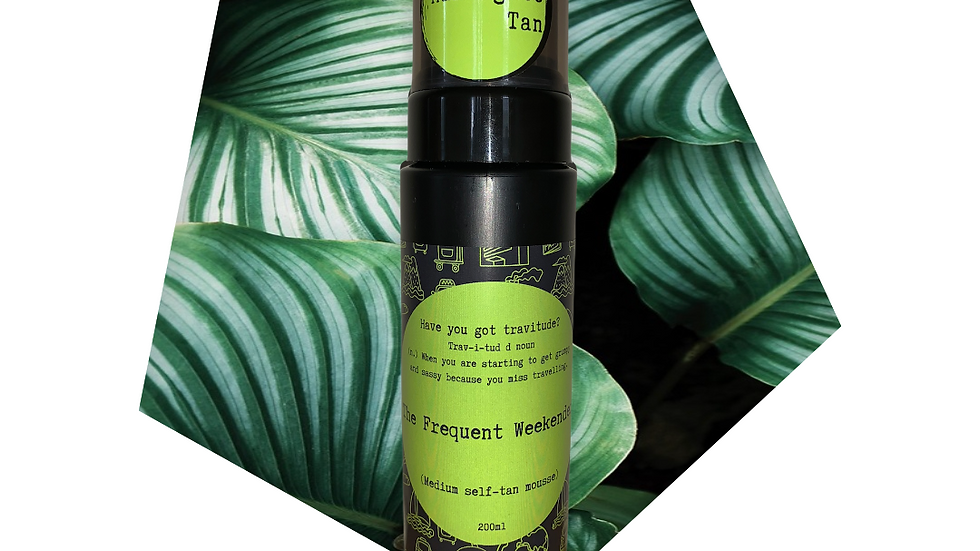 'The Frequent Weekender' medium self-tan mousse