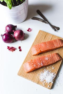 Fish, salmon, Atlantic, farmed, raw