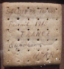 WW1 British Biscuit–Western Front Witness–Life in Trenches-Trench Warfare WW1-WW1 Trench Life