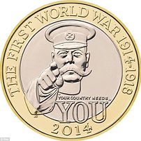 Lord Kitchener Commemorative Coin- Western Front Witness–Propaganda in WW1-Censorship in WW1-DORA WW1
