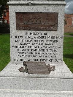 Titanic Memorial Dumfries–Western Front Witness–Casualties of WW1-WW1 Heroes-British Casualties WW1