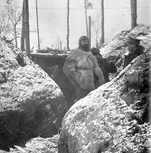 British Trench in Winter–Western Front Witness–Life in Trenches-Trench Warfare WW1-WW1 Trench Life
