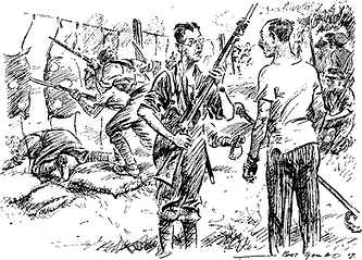 Kitcheners Army Bayonet Training–Western Front Witness–WW1 Recruitment-Pals Battalions-Kitcheners Army