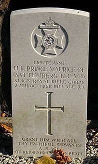 Prince Maurice Grave–Western Front Witness–Casualties of WW1-WW1 Heroes-British Casualties WW1