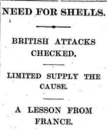 Britain Shell Crisis–Western Front Witness– Weaponry in WW1-WW1 Tactics-WW1 artillery-WW1 Snipers