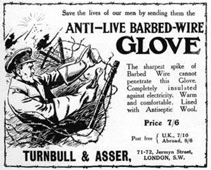 Anti-Live Barbed Wire Gloves–Western Front Witness–Propaganda in WW1-Censorship in WW1-DORA WW1