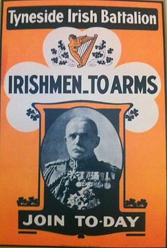 Tyneside Irish Battalion Poster–Western Front Witness–WW1 Recruitment-Pals Battalions-Kitcheners Army