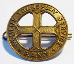 FANY Badge–Western Front Witness–Women in WW1-WW1 Nurses-VADs-First Aid Nursing Yeomanry