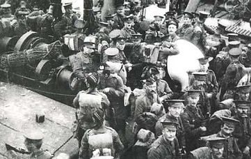 Southampton Port Troops Steaming to War–Western Front Witness –Retreat from Mons August 1914 –Battle of Mons