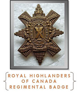 Royal Highlanders of Canada Badge-Western Front Witness- Sample Last Action Hero soldier research –Search for WW1 soldiers