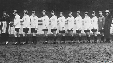 Dick Kerr Ladies Football Team–Western Front Witness– WW1 Sporting Contributions-Football Remembers