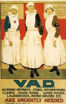 VADs Poster–Western Front Witness–Women in WW1-WW1 Nurses-VADs-First Aid Nursing Yeomanry