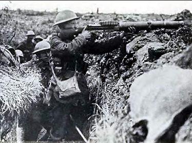 British Lewis Gun–Western Front Witness– Weaponry in WW1-WW1 Tactics-WW1 artillery-WW1 Snipers