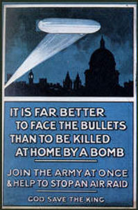 Poster First London Blitz–Western Front Witness– Weaponry in WW1-WW1 Tactics-WW1 artillery-WW1 Snipers