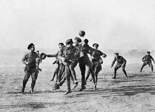 Christmas Truce Football –Western Front Witness– The Christmas Truce 1914- Christmas Day Truce WW1