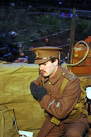 British Officer Re-enactment–Western Front Witness–Life in Trenches-Trench Warfare WW1-WW1 Trench Life