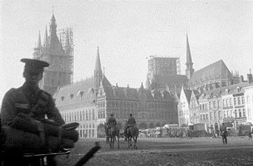 British Troops in Ypres Before the Battle 1914–Western Front Witness– First Battle of Ypres–Ypres WW1 1914
