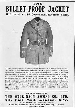 Bullet Proof Jacket 1915–Western Front Witness–Life in Trenches-Trench Warfare WW1-WW1 Trench Life