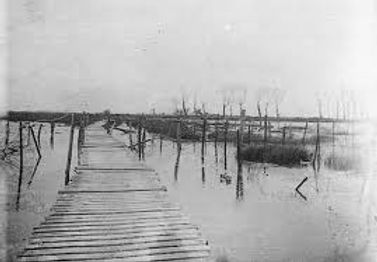 Flooding in Ypres Prevents German Advance -Western Front Witness– First Battle of Ypres–Ypres WW1 1914