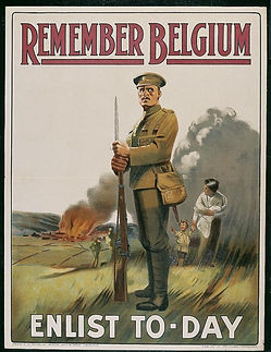 German Invasion of Belgium Poster–Western Front Witness–German Army WW1-German Soldiers WW1-Adolf Hitler WW1