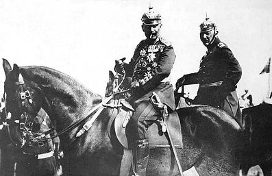 Kaiser Wilhelm with Moltke–Western Front Witness– Battle of the Marne September 1914– British Army WW1