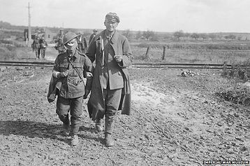 Dwarf Soldier Escorts German POW–Western Front Witness–WW1 Recruitment-Pals Battalions-Kitcheners Army