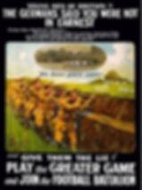 WW1 English Footballers Poster–Western Front Witness– WW1 Sporting Contributions-Football Remembers
