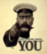 Horatio Kitchener Poster–Western Front Witness–WW1 Recruitment-Pals Battalions-Kitcheners Army