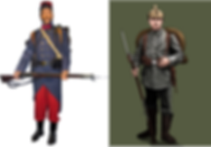 France V Germany Uniforms–Western Front Witness –Retreat from Mons August 1914 –Battle of Mons