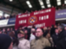 Hearts McCraes Battalion Banner–Western Front Witness– WW1 Sporting Contributions-Football Remembers