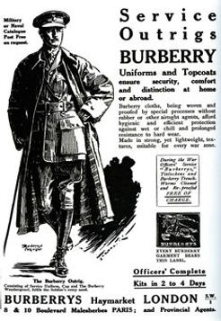 Advert Burberry Trench Coat–Western Front Witness–Life in Trenches-Trench Warfare WW1-WW1 Trench Life
