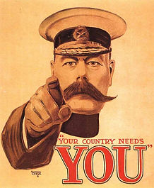 Recruitment Poster Kitchener–Western Front Witness–WW1 Recruitment-Pals Battalions-Kitcheners Army